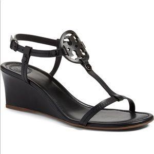 Tory Burch Shoes - New TORY BURCH Miller Wedge Sandal Black